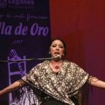 "La cantaora malagueña, Amparo Heredia ""La Repompilla"" ganadora de la Silla de Oro 2017"