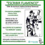 """El Centro Municipal de Arte Flamenco La Merced de Cádiz acoge el nuevo taller """"Escribir Flamenco"""""""