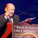 Fosforito homenajeado por la VII Bienal de la ONCE en sus 70 años de cante