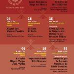 Programación del Círculo Flamenco de Madrid para el primer trimestre de 2021
